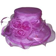 Sierra Accessories Boater Hat With Rosette Details Purple at Sears.com