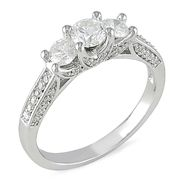 1 cttw. Diamond Three-Stone Engagement Ring in 14k White Gold at Sears.com