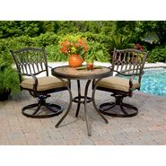 Agio Balmoral 3 Pc. Porcelain Tile Top Bistro Set at Kmart.com