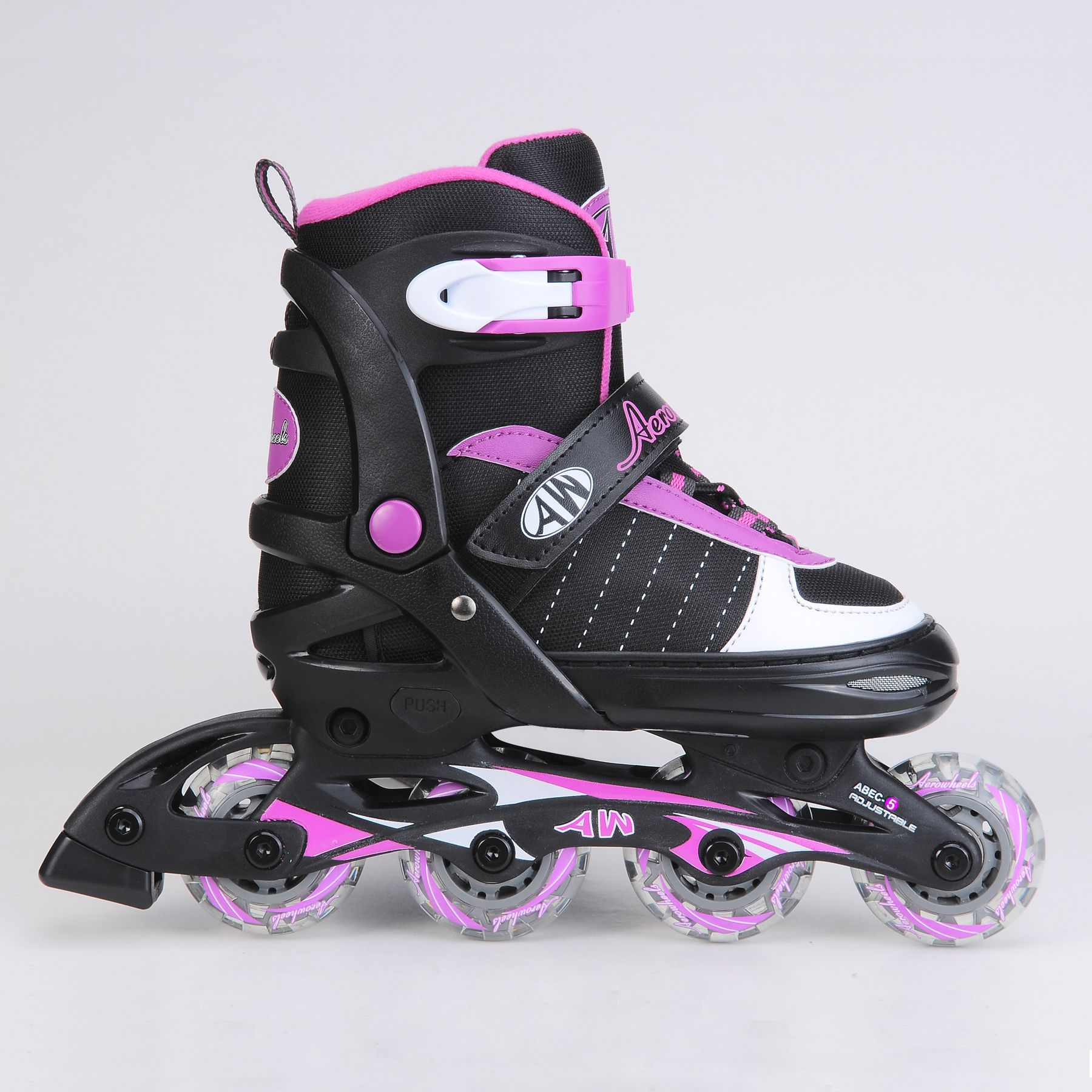 Girls Aerowheels Power Strap Inline Skates Glad To Glide At Kmart
