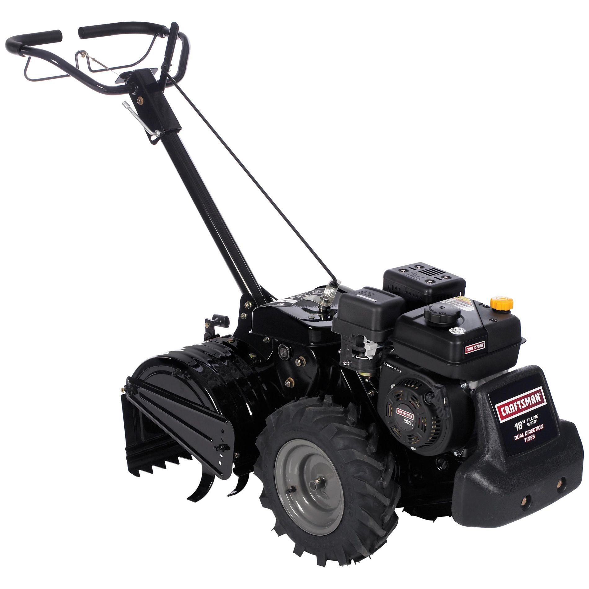 208CC* Dual Rotating Rear Tine Tiller