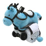 Piccolo Bambino Pull Toy with Baby Quilted Blanket- Teal Blue Horse at Kmart.com