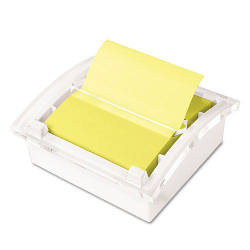 Post-it Pop-Up Note Dispenser, 3 x 3, White/Clear
