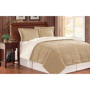 Premier Comfort Jackson Corduroy/Berber King Comforter Mini Set in Camel at Kmart.com
