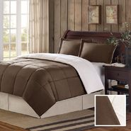 Premier Comfort Telluride Micro Mink/Berber Twin Comforter Mini Set in Chocolate at Kmart.com