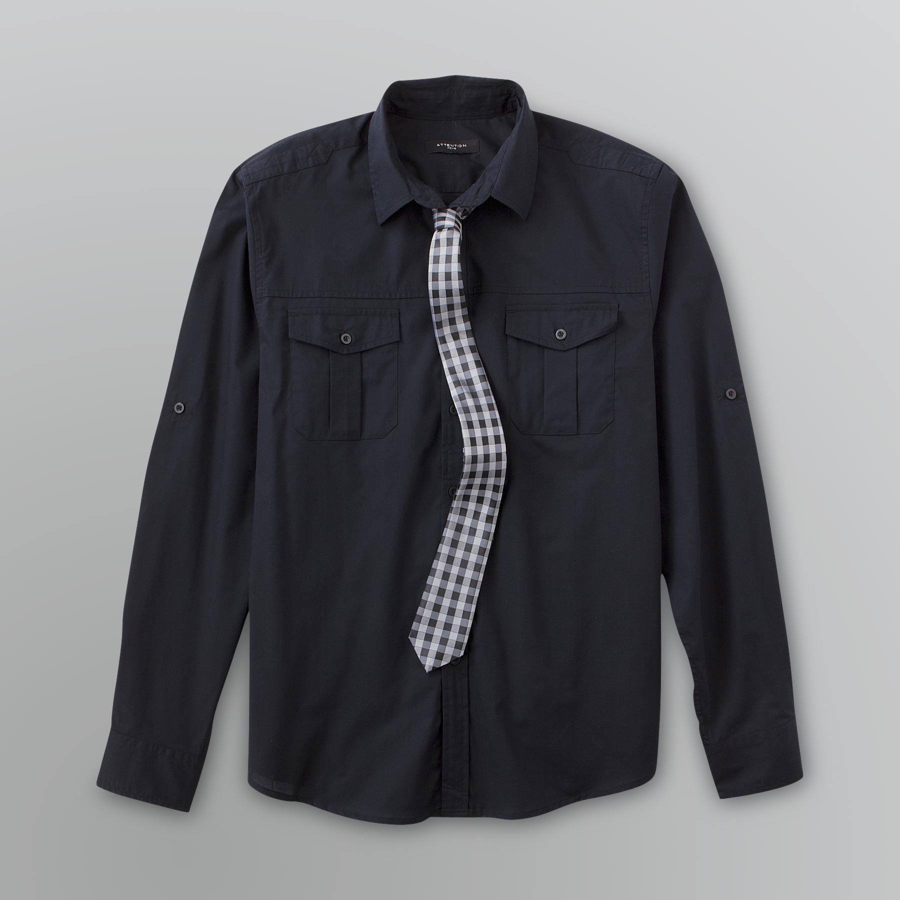 Attention Men's Dress Shirt & Tie Set