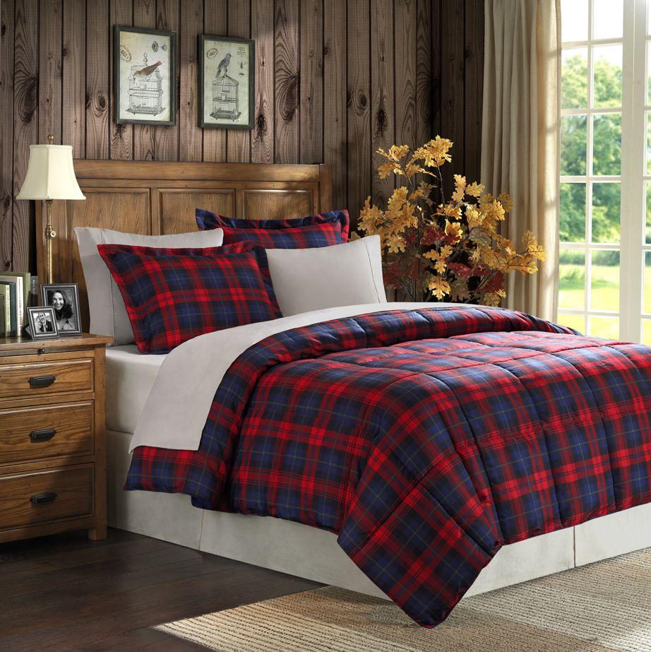 home comforter set black and red plaid design ideas