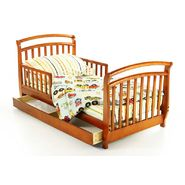 Dream On Me Deluxe Sleigh Toddler Bed with Storage Drwer Pecan at Sears.com