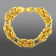 Romanza Byzantine Paperclip Bracelet set in Gold over Bronze at Sears.com