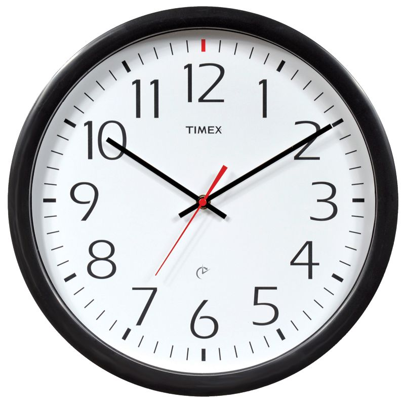 Wall Clock Plastic Black
