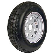 Carrier Star ST205/75D-14 LRC Trailer Tire and 5-Hole Custom Spoke Wheel at Sears.com