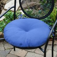 Greendale Home Fashions 18 in. Round Outdoor Bistro Chair Cushion, Set of Two, Marine Blue at Kmart.com