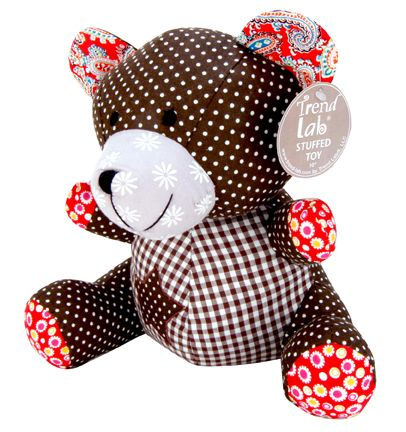 Trend-Lab STUFFED TOY - CHOCOLATE KISS BEAR