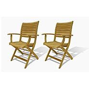 Amazonia Cabana Folding Teak Armchair 2 Piece at Kmart.com