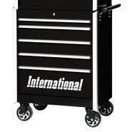"International Professional 27"" 5-Drawer Ball Bearing Slides Roller Cabinet Black at Kmart.com"