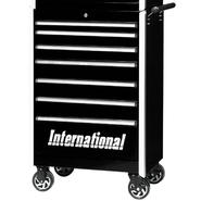 "International Professional 27"" 7-Drawer Ball Bearing Slides Roller Cabinet Black at Kmart.com"