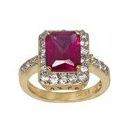 Lab Created Ruby and Lab Created White Sapphire Ring at Kmart.com