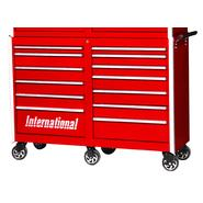 "International Professional 54"" 13-Drawer Ball Bearing Slides Roller Cabinet Red at Sears.com"