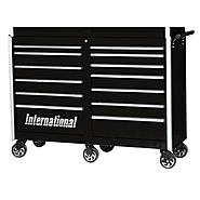 "International Professional 54"" 13-Drawer Ball Bearing Slides Roller Cabinet Black at Kmart.com"
