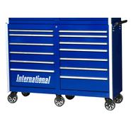"International Professional 54"" 13-Drawer Ball Bearing Slides Roller Cabinet Blue at Sears.com"