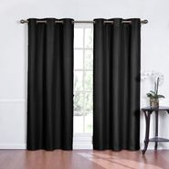 Eclipse Curtains Kent Grommet Thermapanel Solid Color Stripe Thermaback - Black at Kmart.com