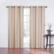 Eclipse Curtains Kent Grommet Thermapanel Solid Color Stripe Thermaback - Cafe at Sears.com