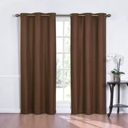 Eclipse Curtains Kent Grommet Thermapanel Solid Color Stripe Thermaback - Chocolate at Kmart.com