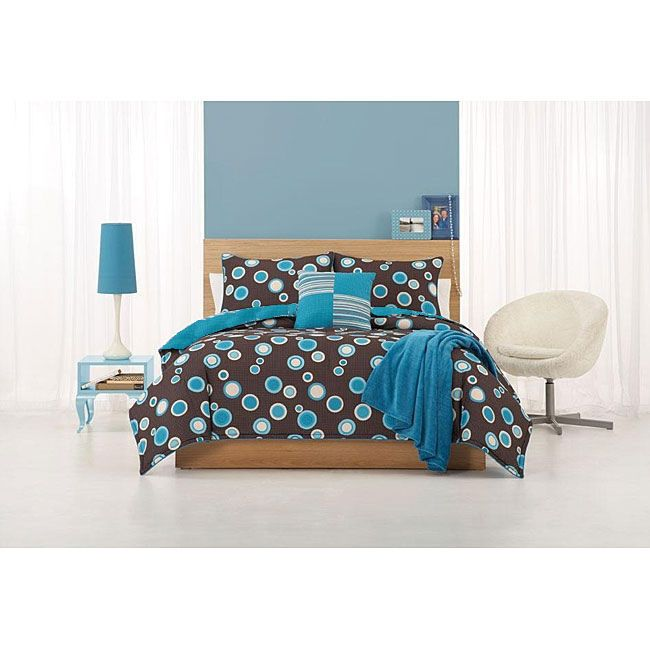 Dot Com Queen Comforter Set with Bonus Pillows                                                                                   at mygofer.com