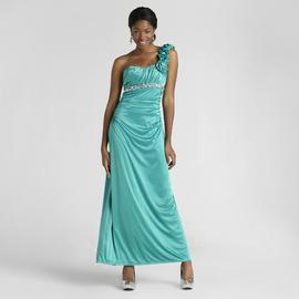 City Triangles Junior's Long Prom Dress - Rosette at Sears.com