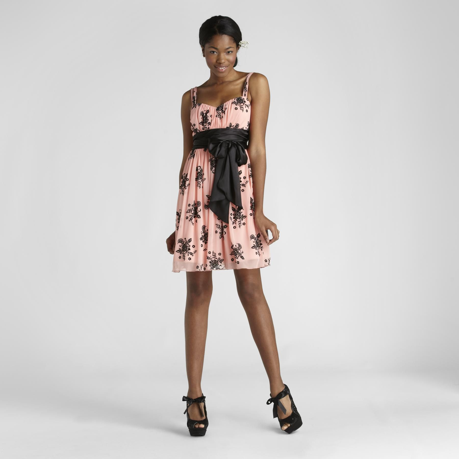 Trixxi Junior's Floral Cocktail Dress at Sears.com
