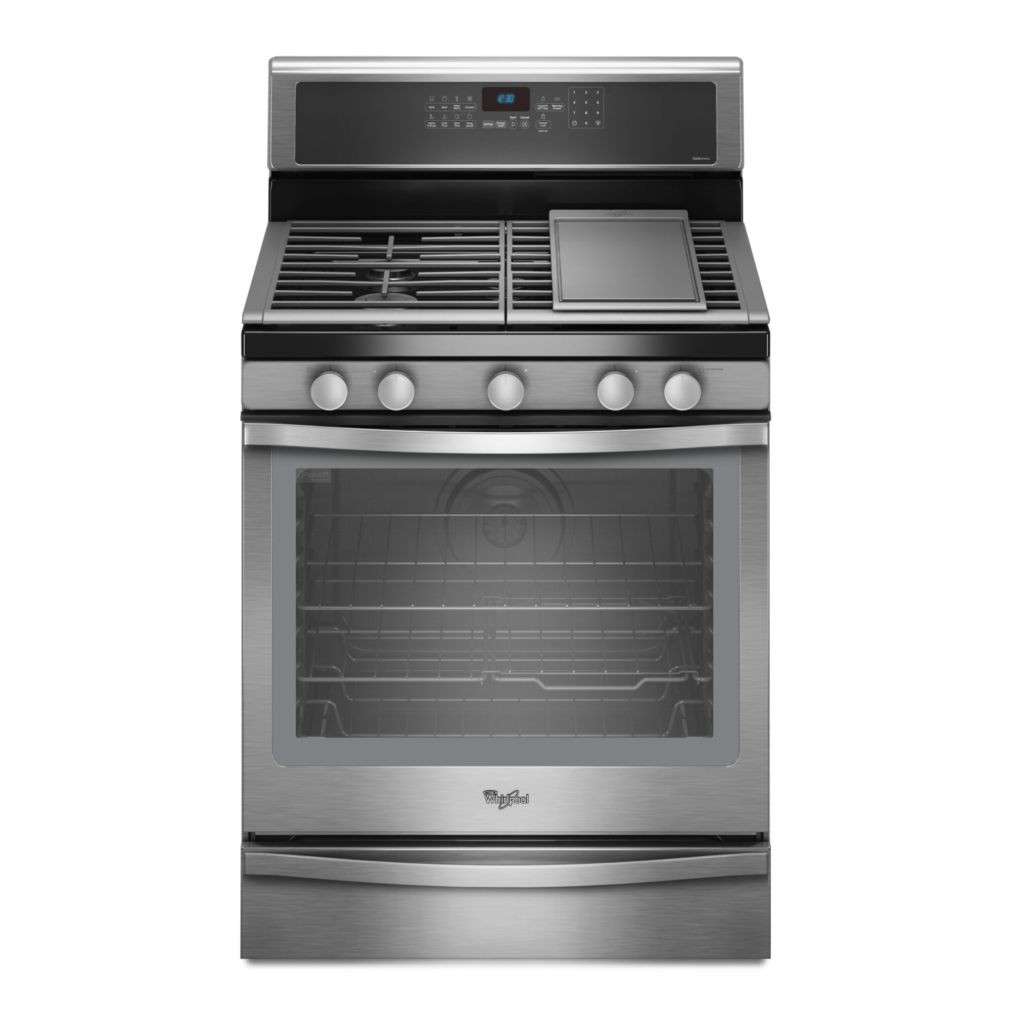 Whirlpool WFG720H0AS 5.8 cu. ft.  Freestanding Gas Range w/ True Convection - Stainless Steel