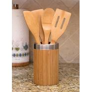 Lipper Bamboo Tool Holder with metal Trim & 4 Tools at Kmart.com