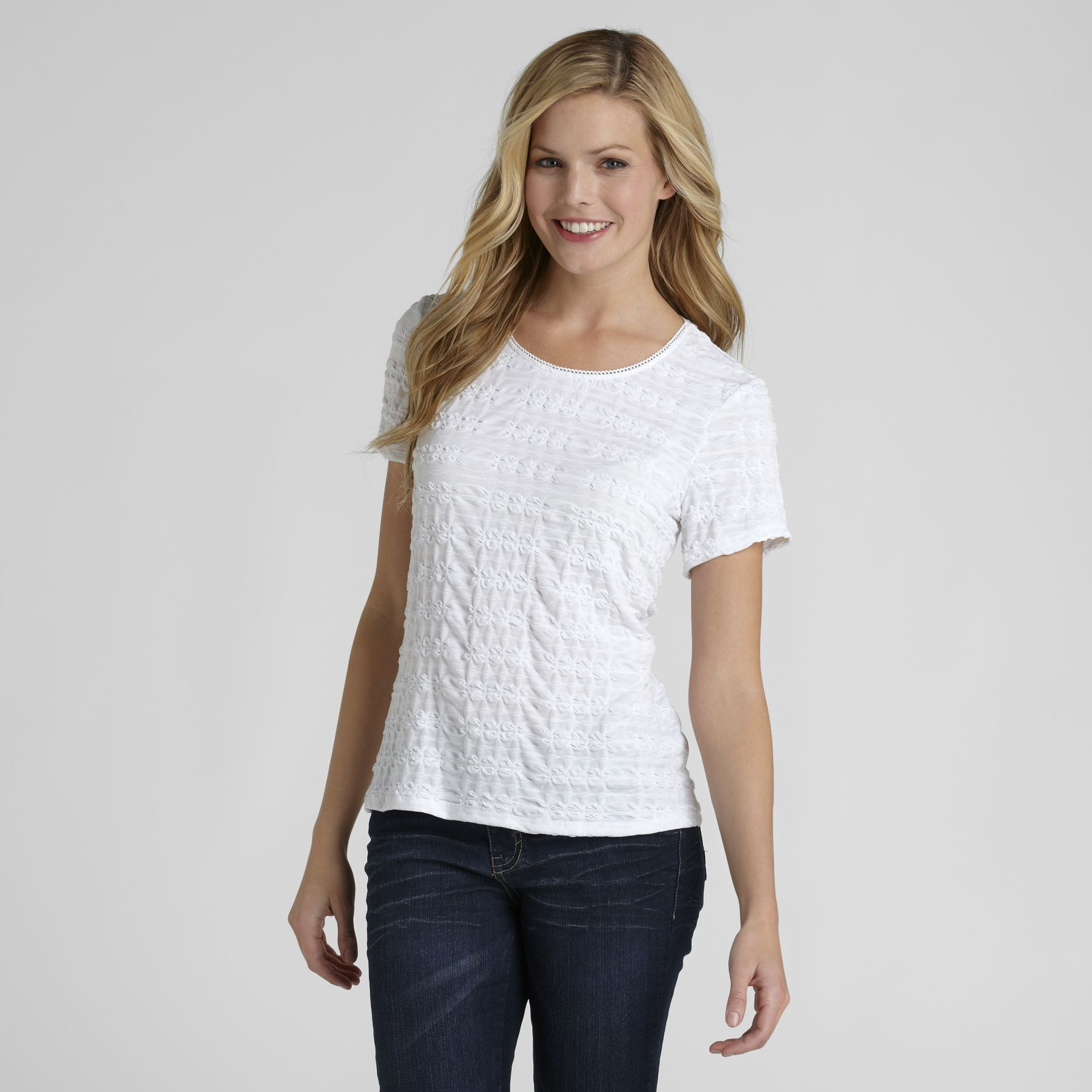 Laura Scott Women's Pucker T-Shirt at Sears.com