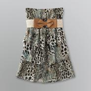 Miss Lili Women's Strapless Belted Mini Dress
