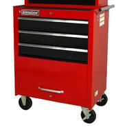 "International 27"" 3-Drawer Ball Bearing Slides Roller Cabinet Red&Black at Sears.com"