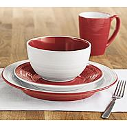 Sandra by Sandra Lee Red and White 16pc Dinnerware at Kmart.com