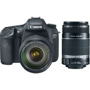 Canon 3814B010L1-KIT EOS 7D 18MP Digital SLR Camera EF-S 28-135mm IS Lens and EF-S 55-250mm Telephoto Zoom Lens at Sears.com