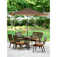 Simply Outdoors San Rafael 6 Pc. Cast & Woven Back Dining Set at Sears.com