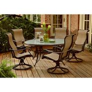Agio Panorama 7 Pc. Round Glass Dining Set at Kmart.com