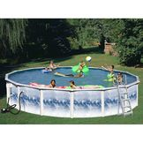 18ft x 48in  Heritage Opal Round Pool Package at mygofer.com