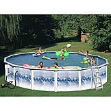 24ft x 48in  Heritage Opal Round Pool Package at mygofer.com