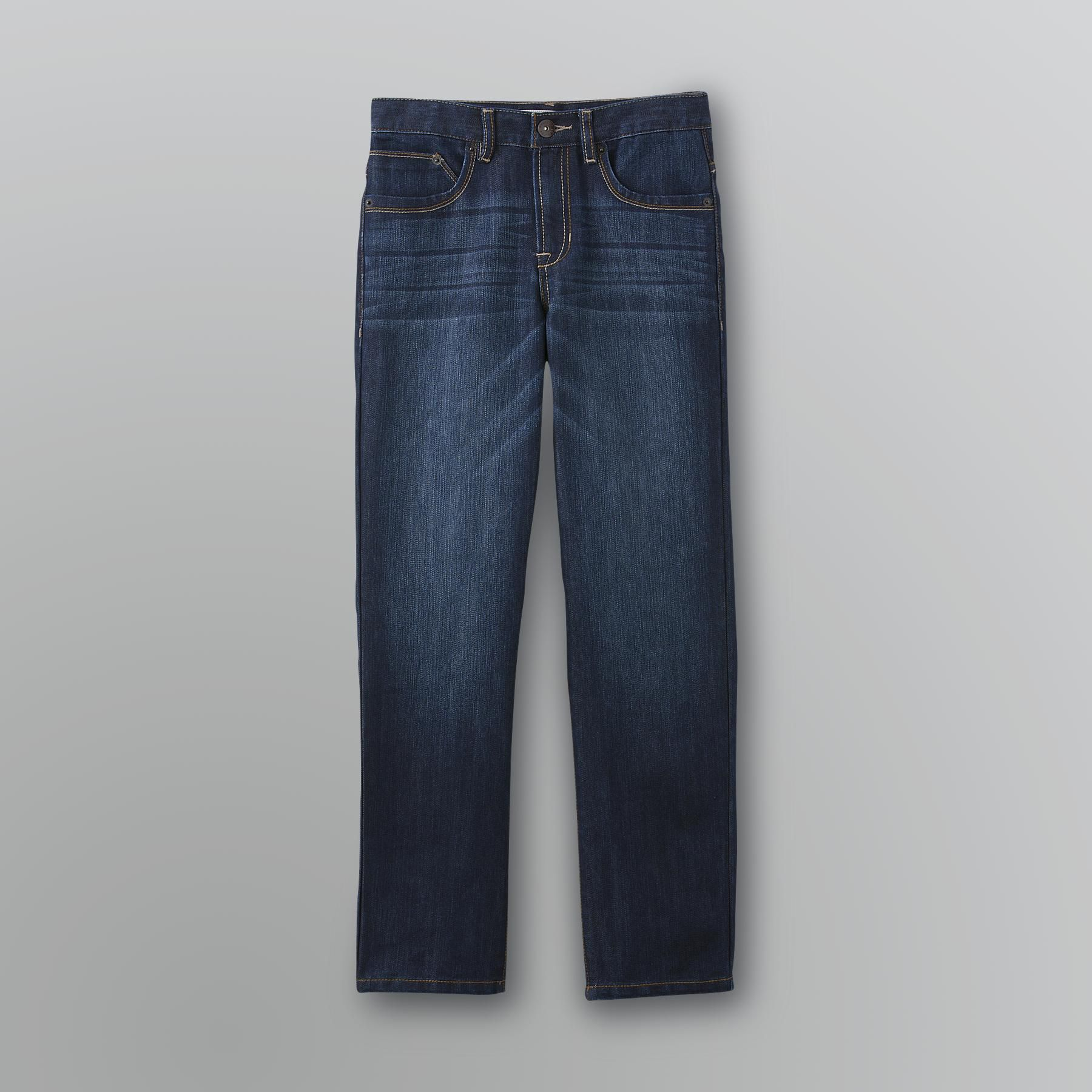 Route 66 Boy's Slim Straight Dark Wash Denim Jeans