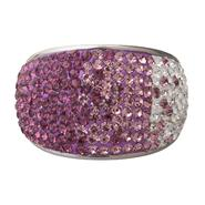 Stainless Steel Purple Multi Crystal Dome Ring at Kmart.com