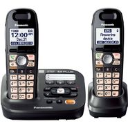 Panasonic KX-TG6592T DECT 6.0 Plus Expandable Answer System w/ 2 Handsets at Sears.com