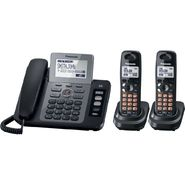 Panasonic KX-TG9472B Cordless Phone with Answering Machine System with 1 Corded and 2 Cordless Handsets at Sears.com
