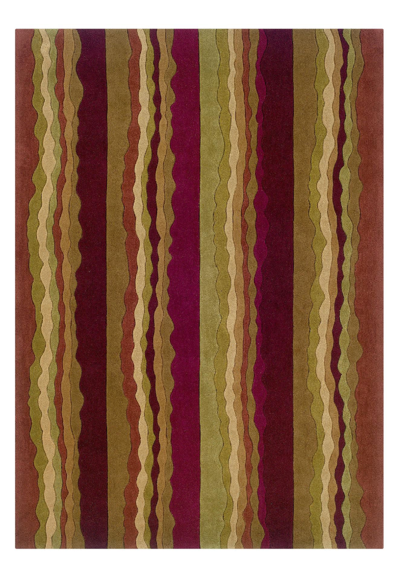 Image of Linon Rugs Trio Collection TA067 5' X 7', Size: 5 ft. x 8 ft., Red