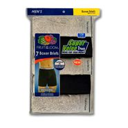 Fruit of the Loom Men's Underwear 7 Pack Boxer Briefs Cotton Black & Grey at Sears.com