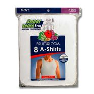 Fruit of the Loom Men's Apparel 8 Pack Tank A-Shirt Sleeveless Cotton Contour Fit Undershirts Classic White at Kmart.com