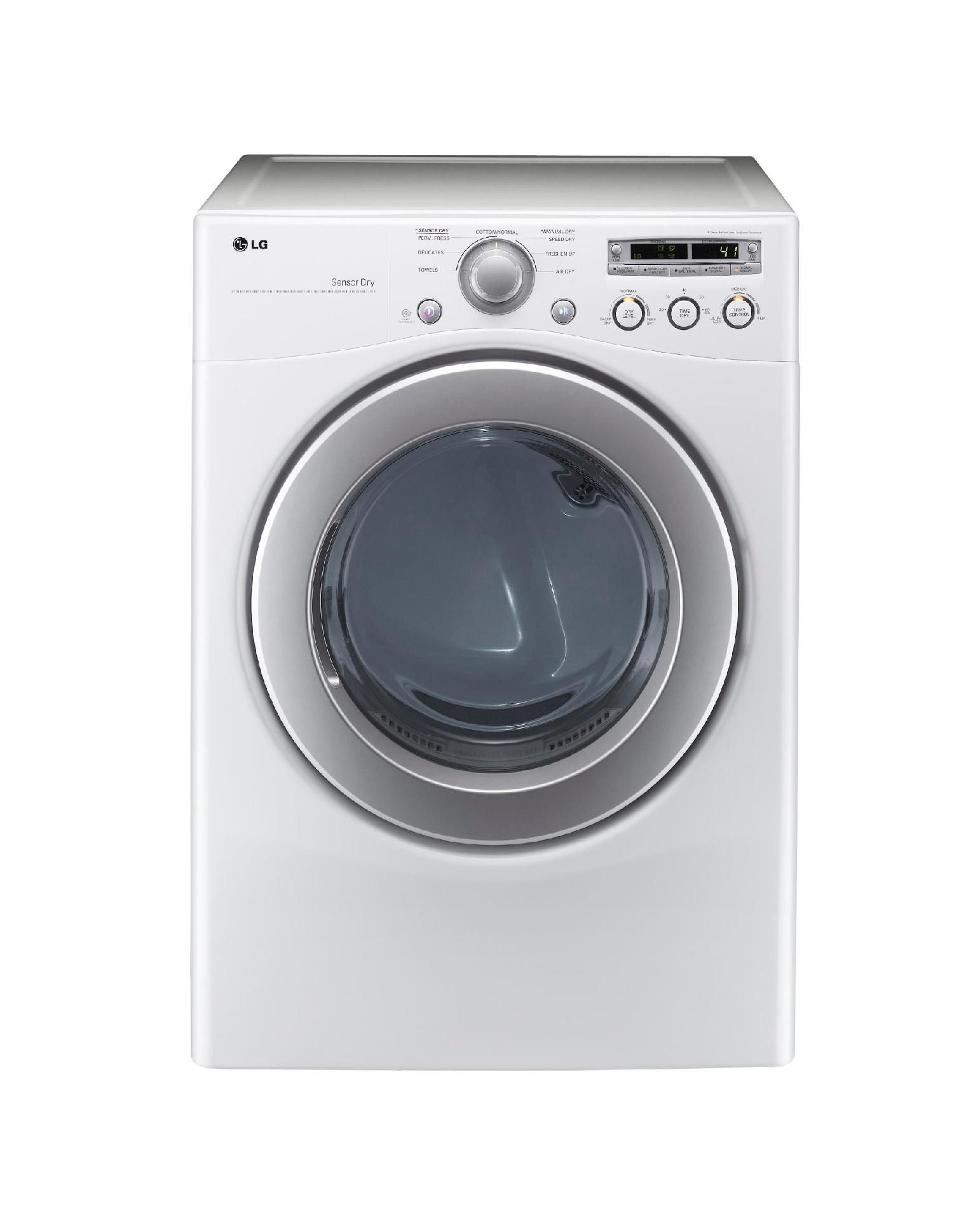 7.1 cu. ft. Extra Large Capacity Gas Dryer with Sensor Dry - White
