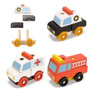 Melissa & Doug Stacking Emergency Vehicles at Sears.com
